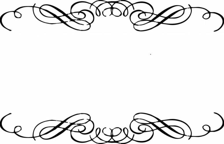 Simple Scroll Design Clip Art.