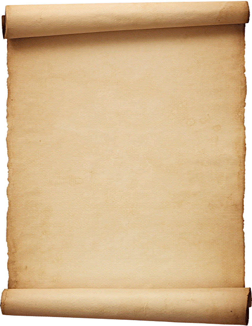 parchment scroll background.