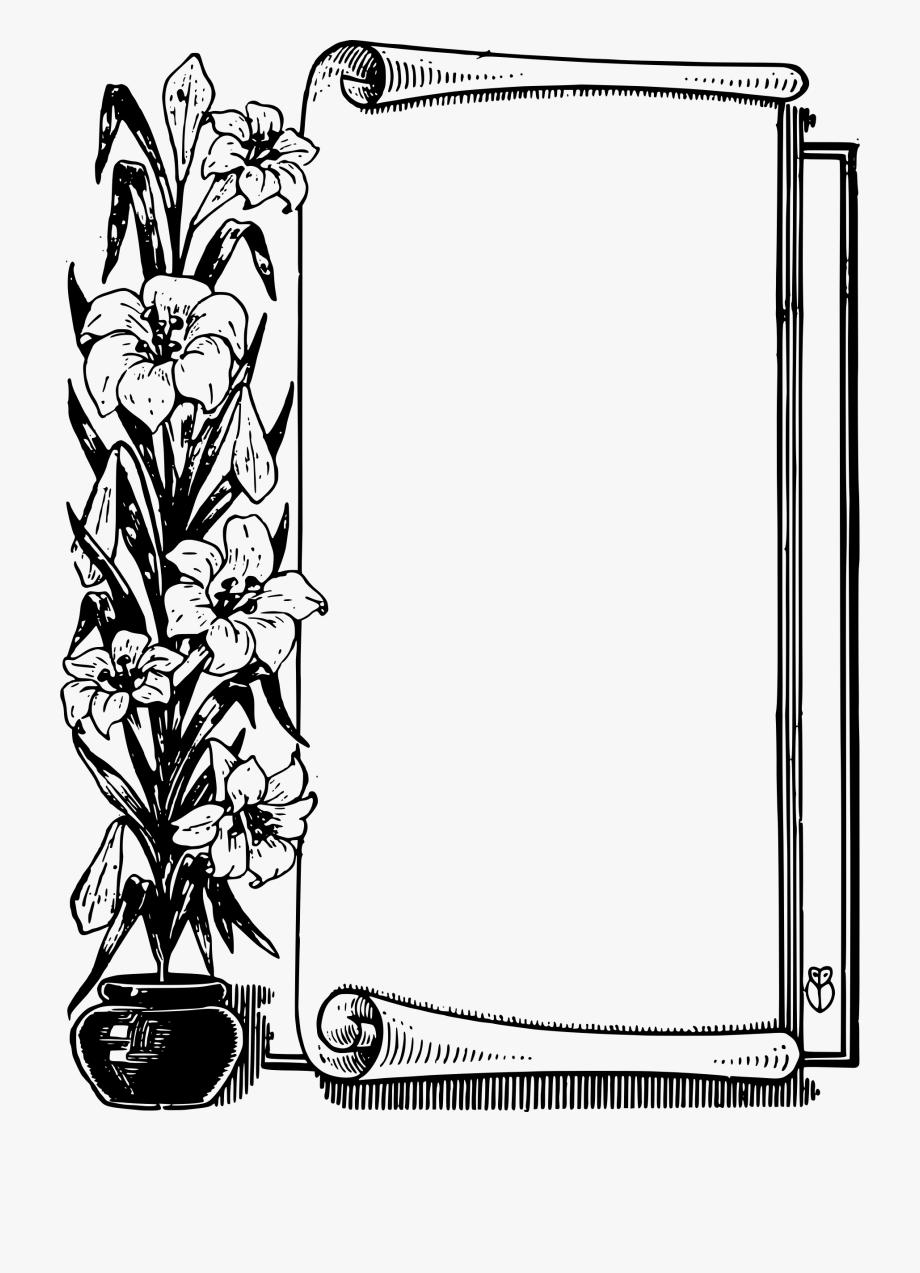 Scroll Clipart Frame.