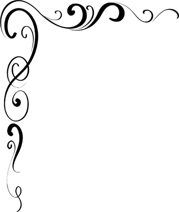 Scroll corner border clip art.