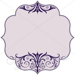 Purple Scroll Bracket Clipart.