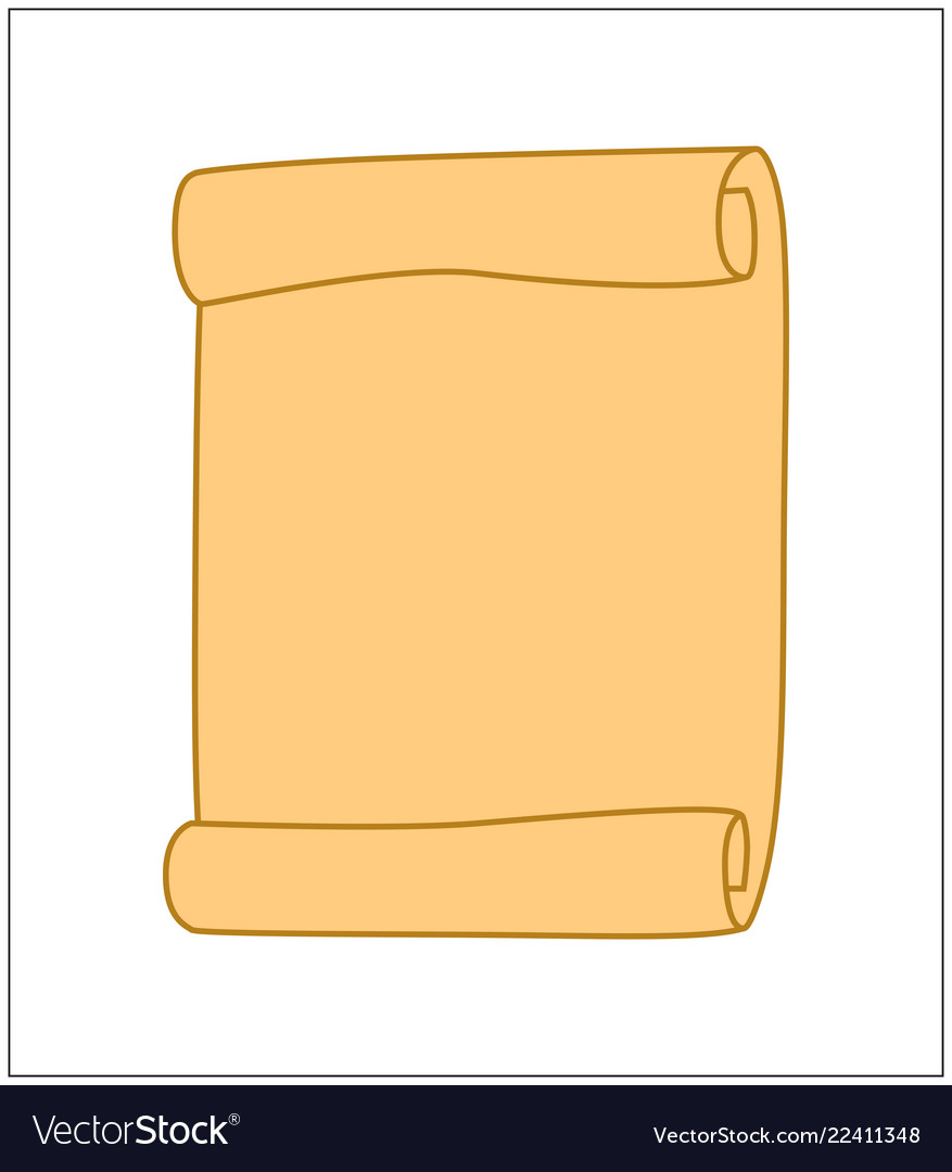 Paper scroll clipart isolated on white background.