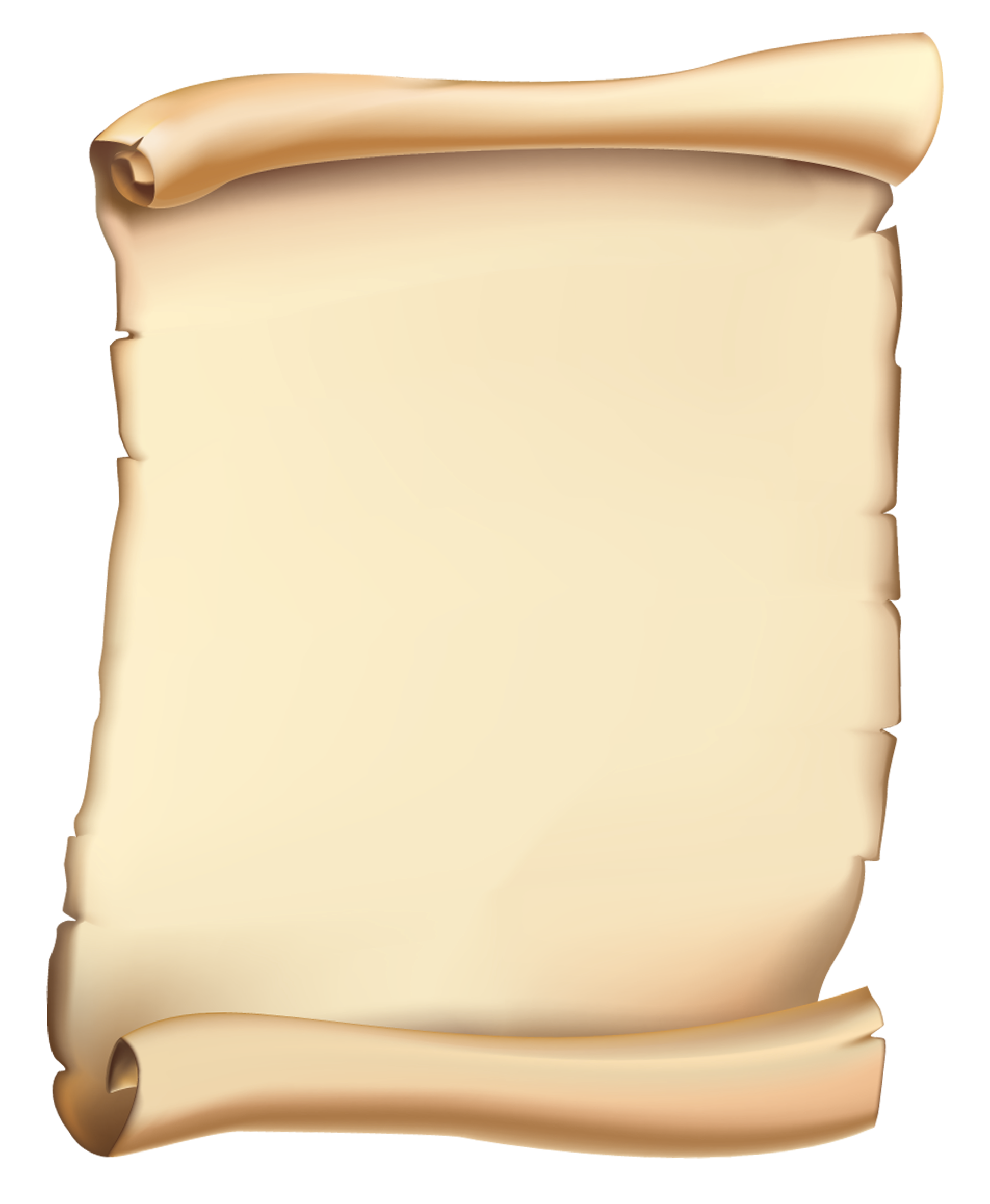Scroll PNG Clipart Image.