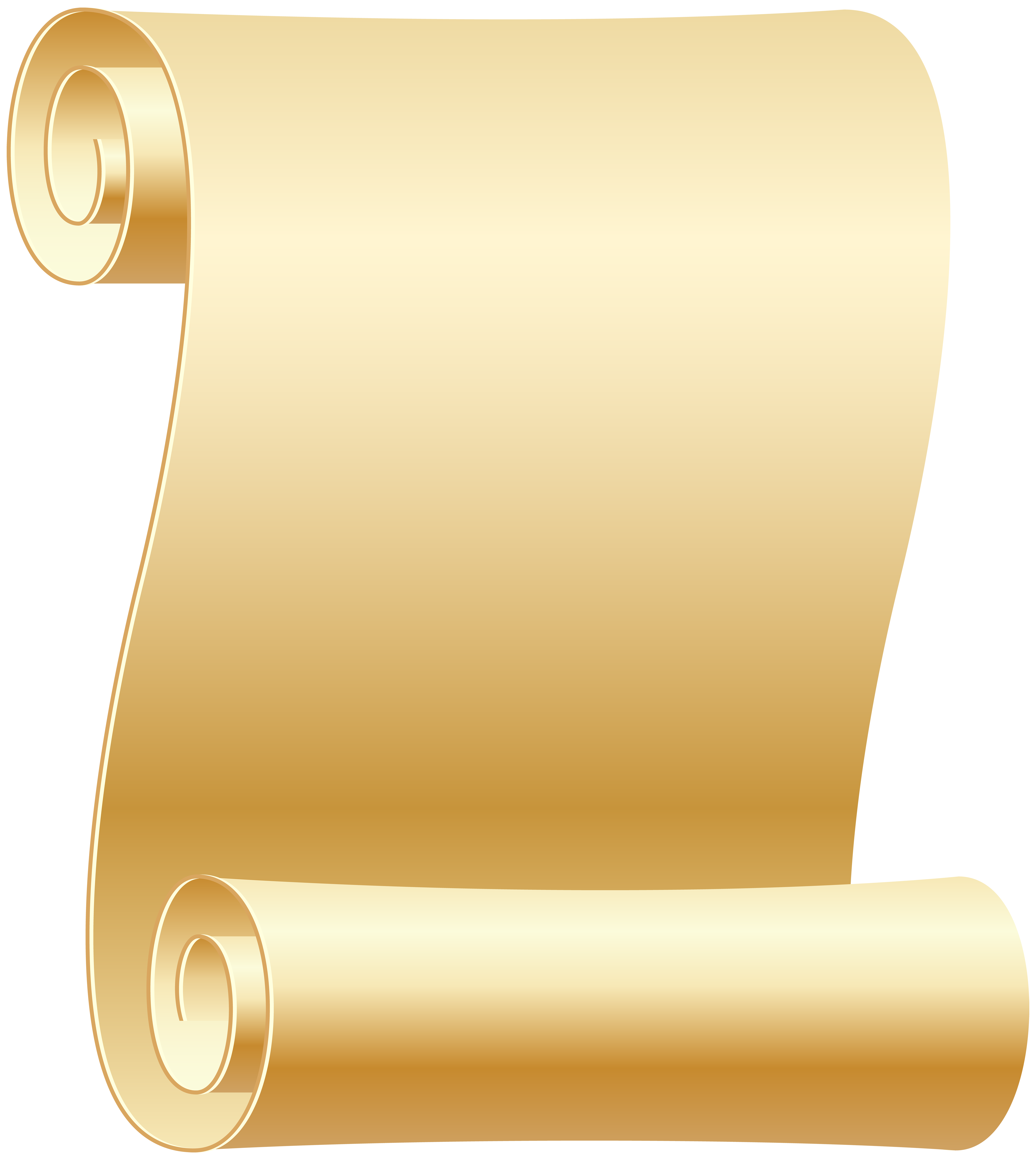Empty Scroll Transparent PNG Clip Art Image.
