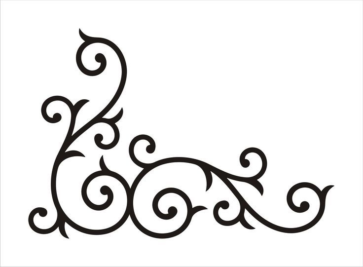 Scroll Stencil Patterns.