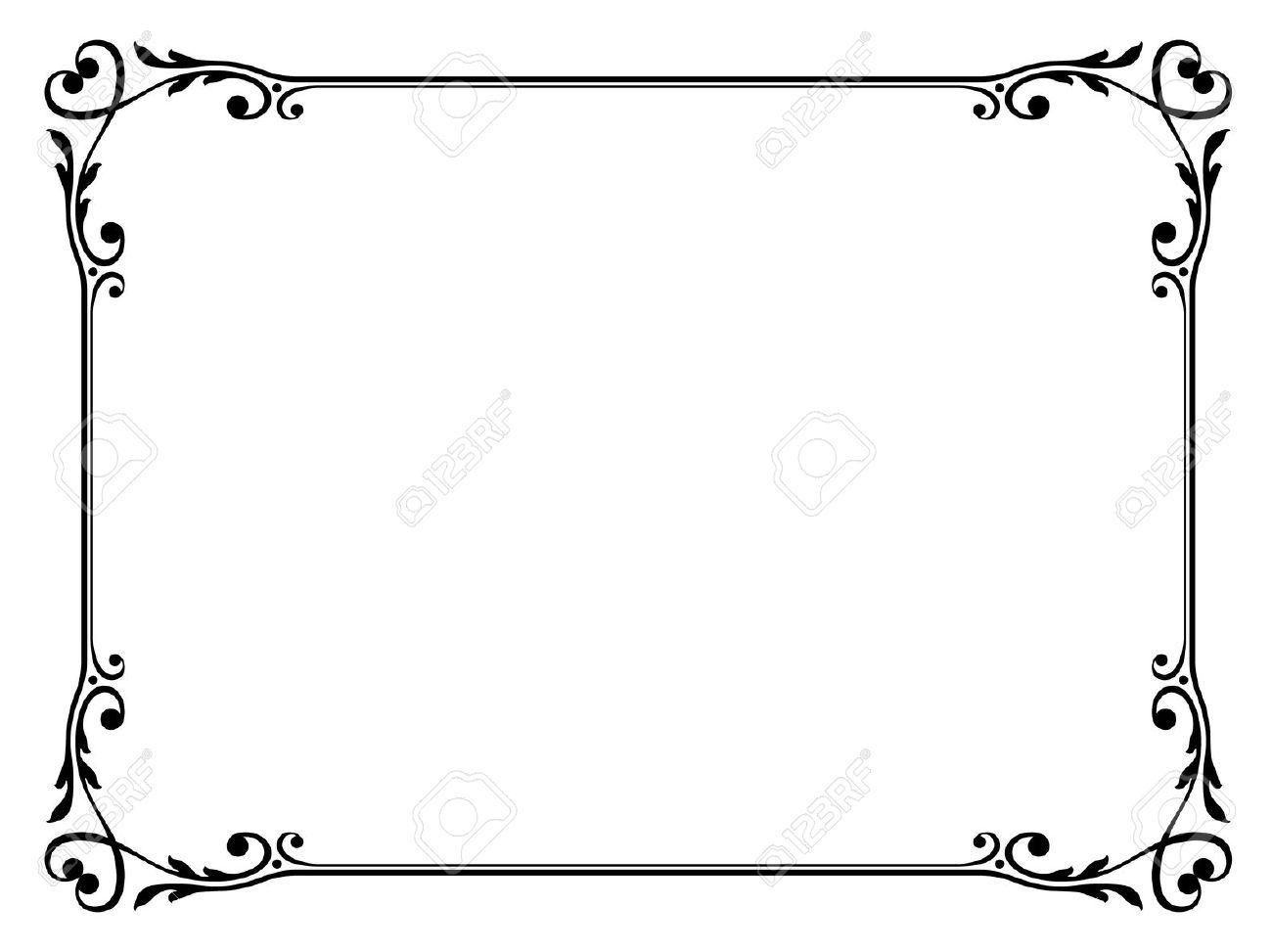Scroll Frame Clipart.
