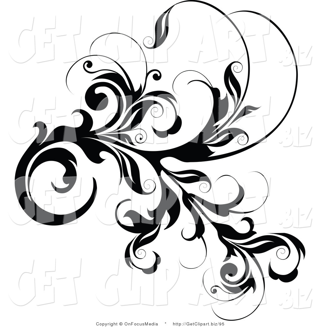 Scroll Designs Clipart.