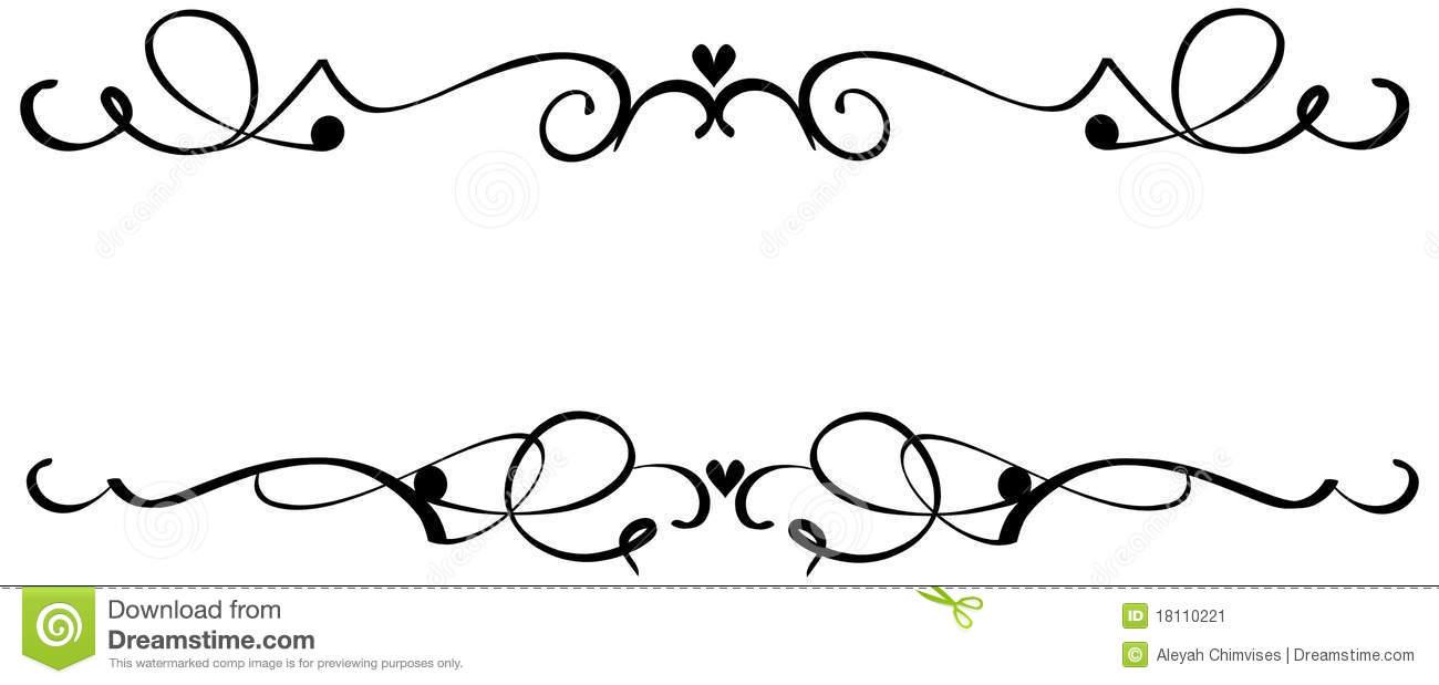 20+ Scroll Line Clip Art.