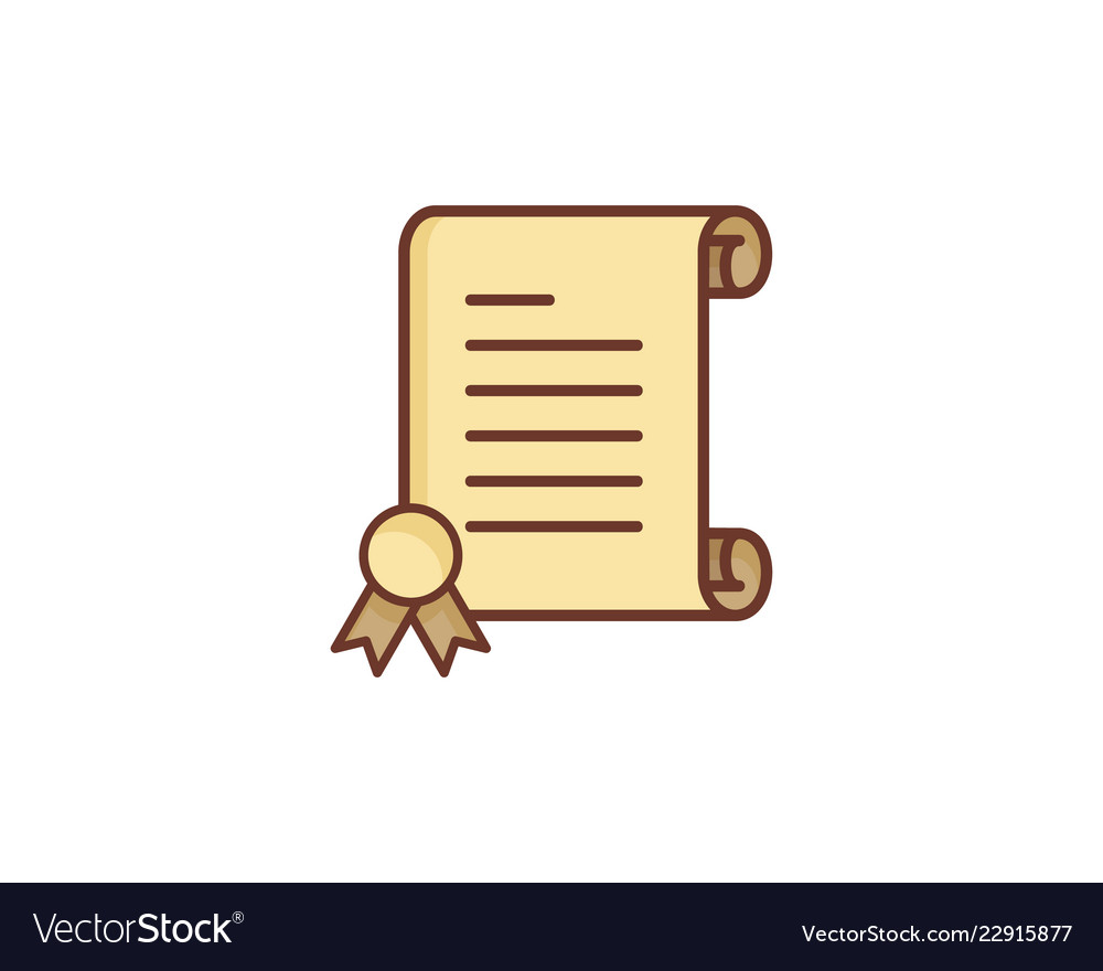 Best paper scroll logo icon design vector image.