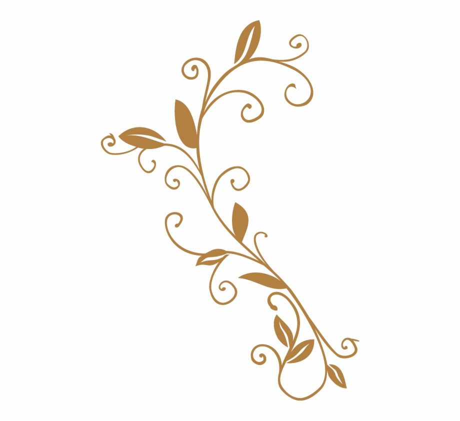 Decorative Scroll Png Motif.