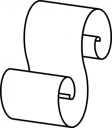 Scroll Outline clip art Clipart Graphic.
