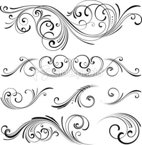 Free Scroll Patterns Clipart.