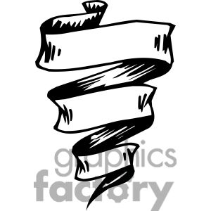 ribbons banners scroll clipart 019 . Royalty.