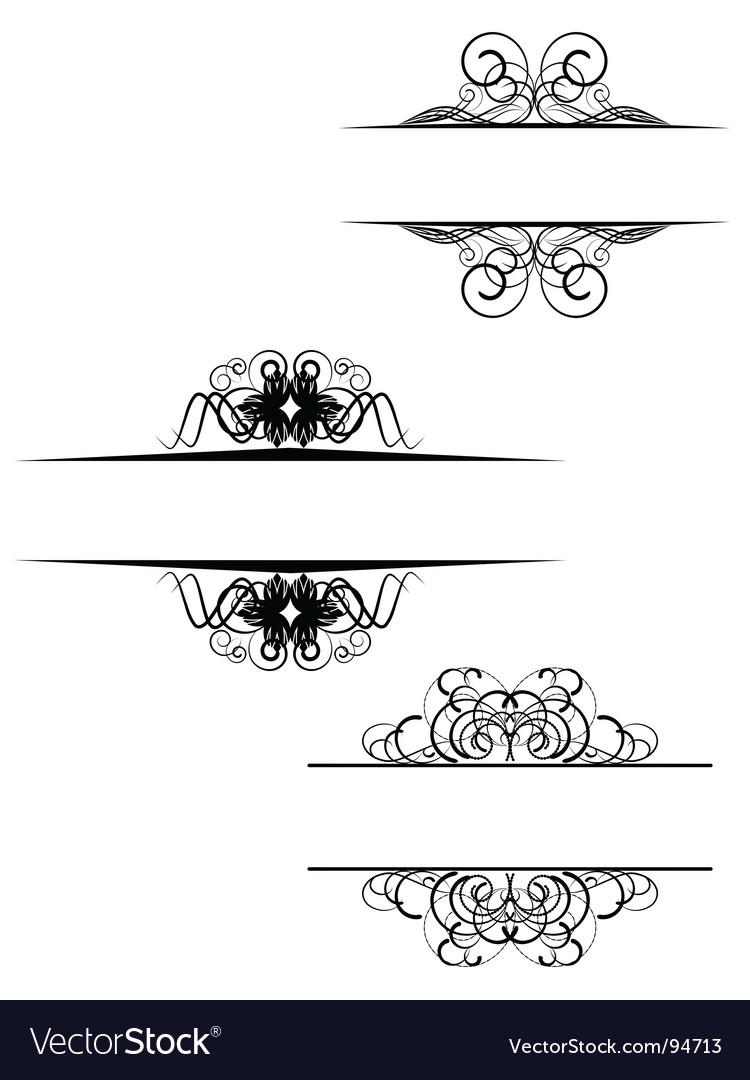 Decorative scroll.