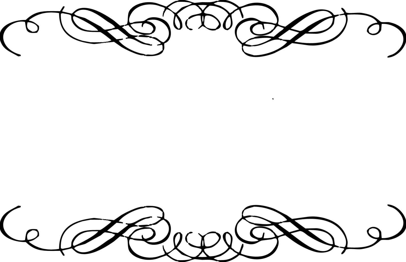 black scroll frame clipart #8