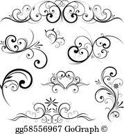 Scrolls Clip Art.