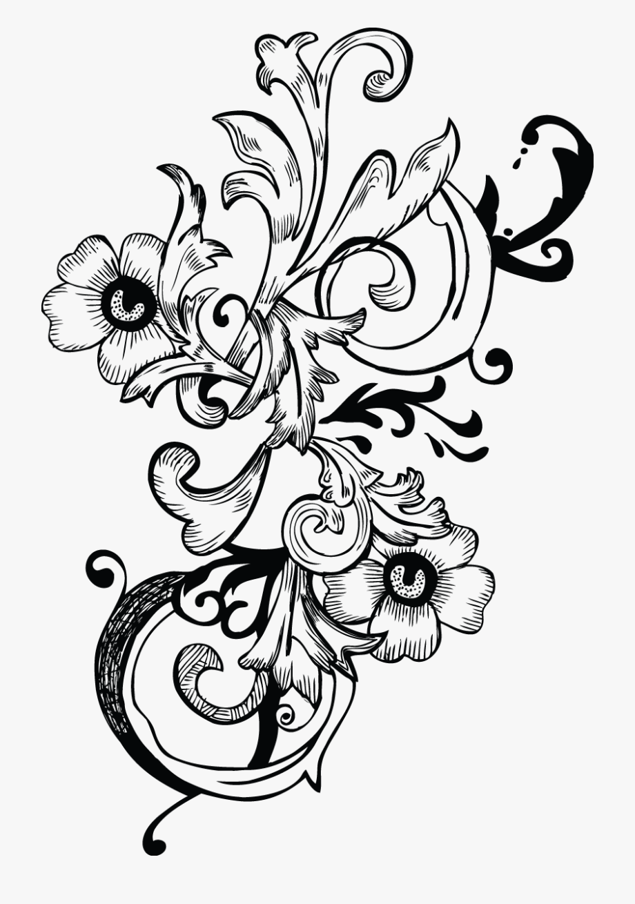 Engraving Scrollwork Clipart.