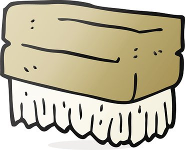 Cartoon Scrubbing Brush stock vectors.