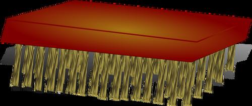 Vector clip art of scrub brush.