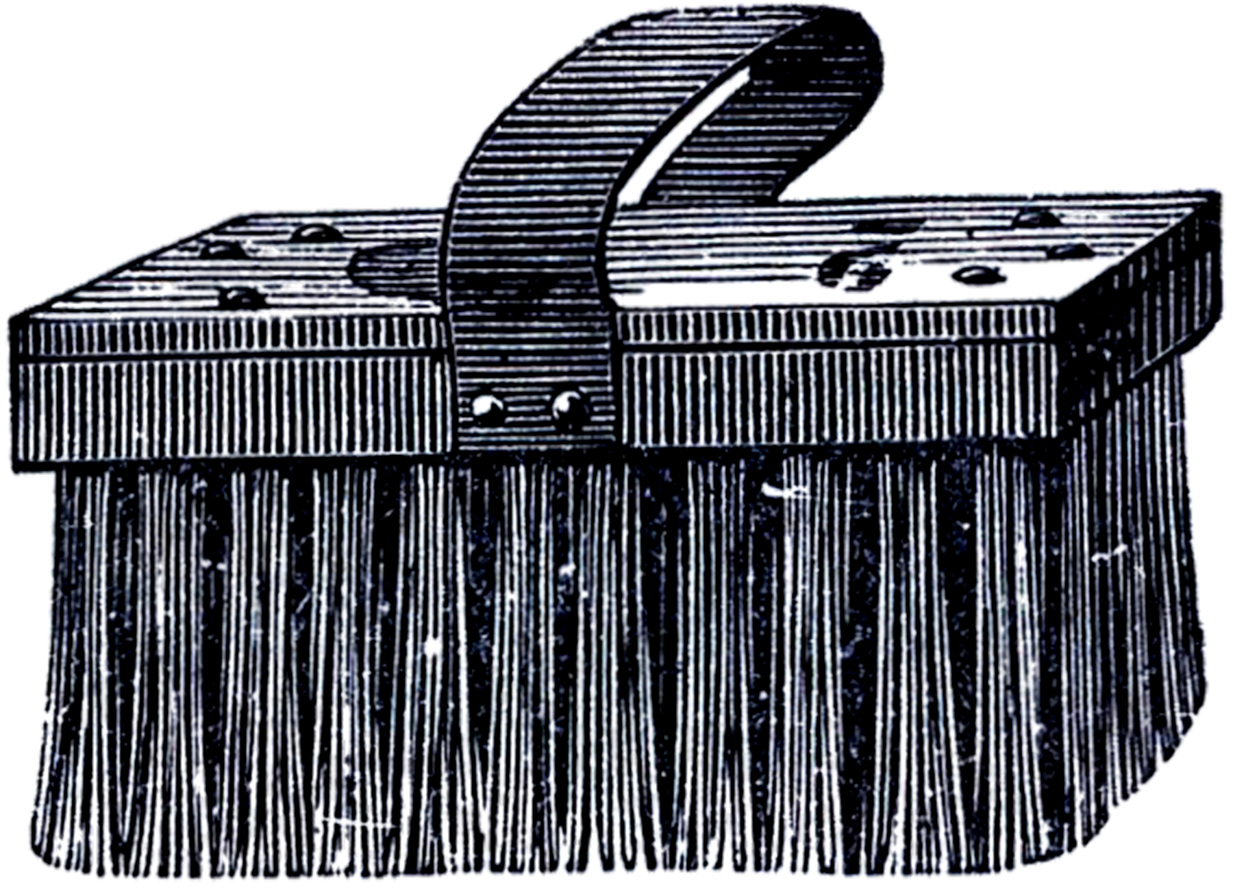 Vintage Scrub Brush Clip Art.