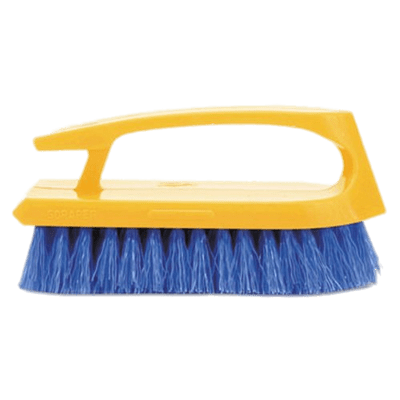 Cleaning Brush With Yellow Handle transparent PNG.