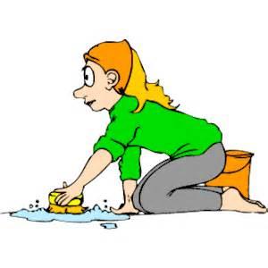 Scrubbing Floor Clip Art.