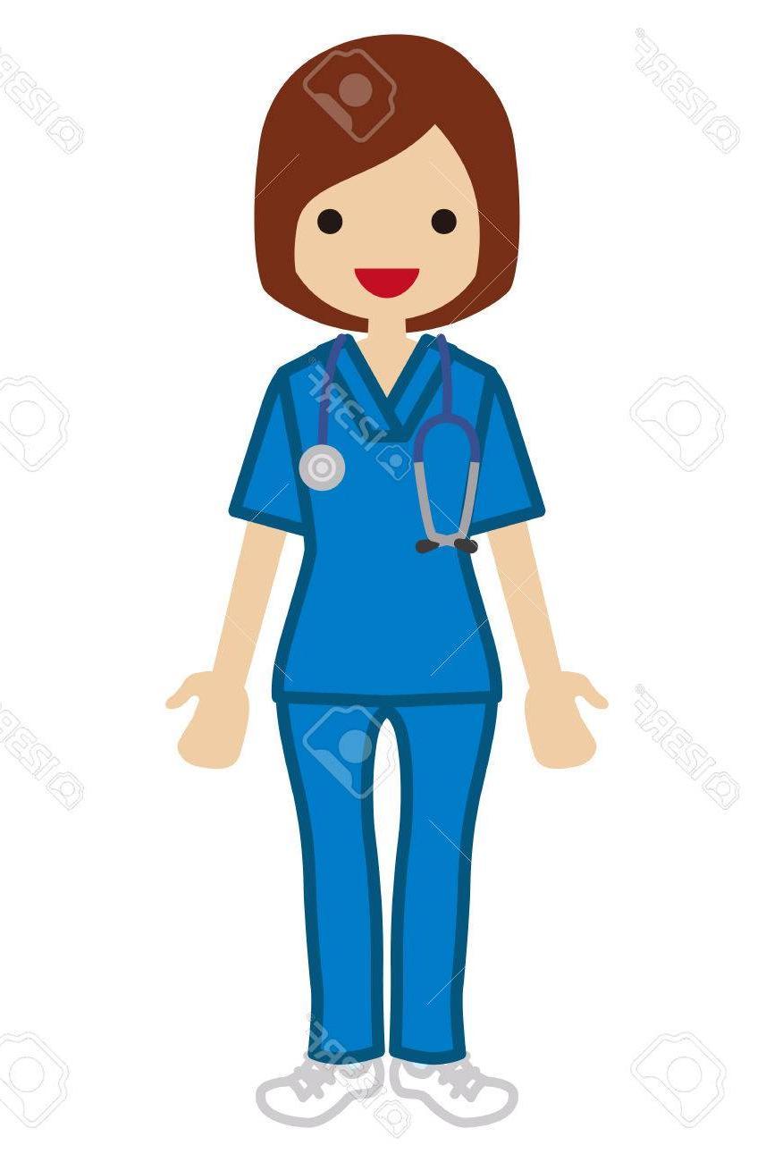 Unique Nurse In Scrubs Clip Art Photos » Free Vector Art.