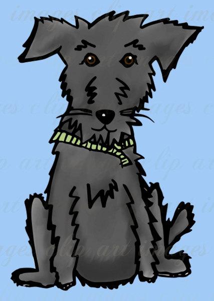 Scruffy dog clipart.