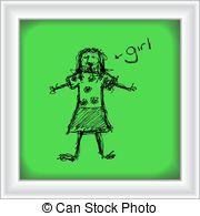 Scruffy girl Vector Clipart Royalty Free. 14 Scruffy girl clip art.