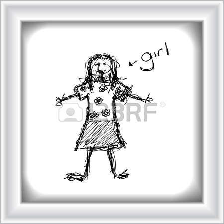 Scruffy Girl Clipart.