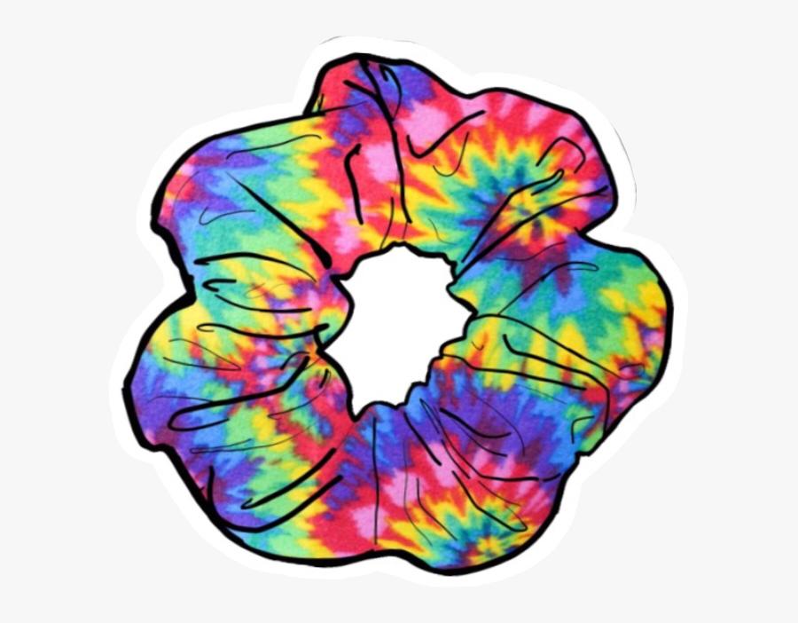 scrunchie #sticker #cute #rainbow #tie #dye #tiedye.