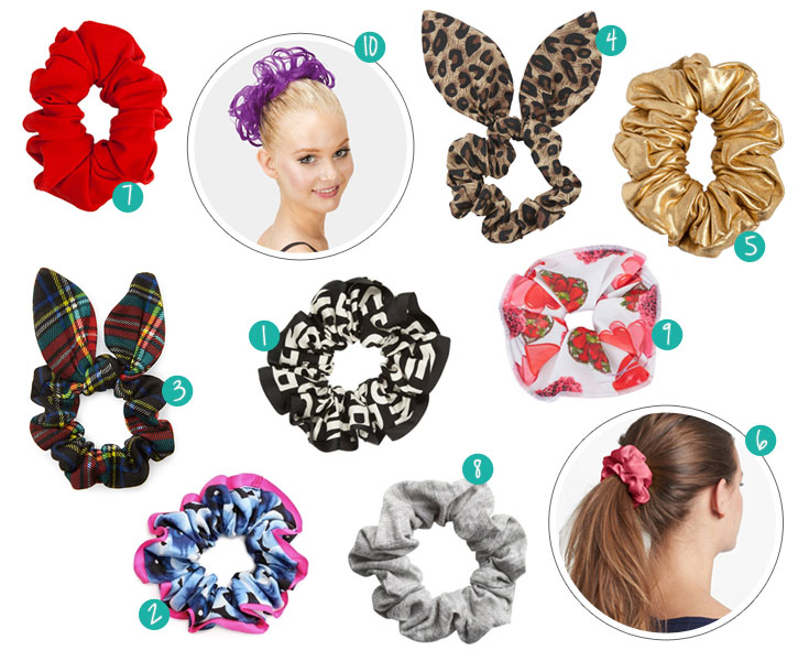 10 Fashionable Scrunchies for 2014.