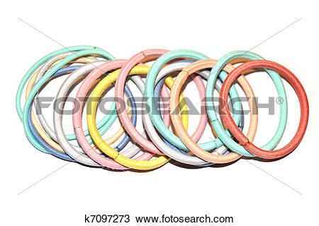 Stock Photo of Pastel color scrunchies k7097273.