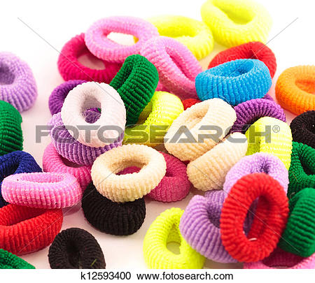 Stock Photography of Scrunchies.