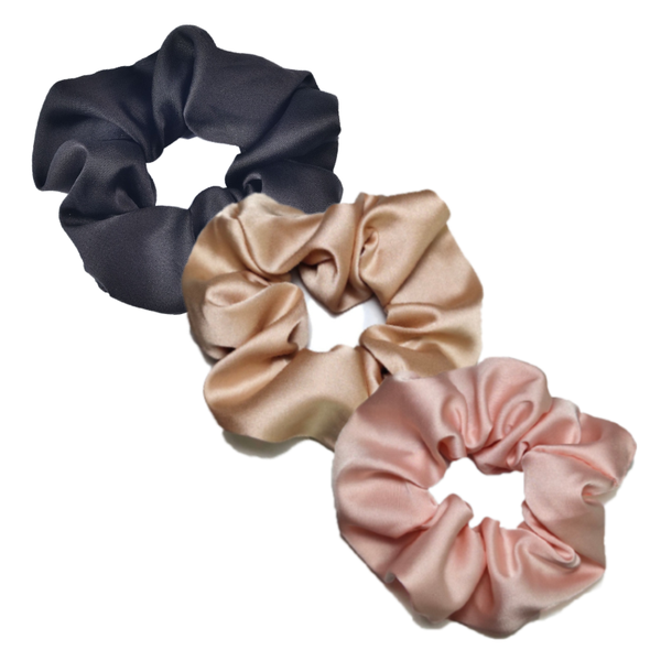 Set of 3 Silk Scrunchies.