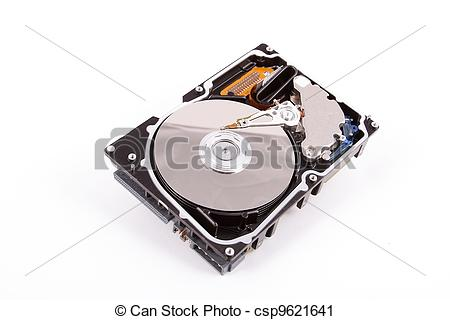 Clipart of Illustration of scsi Hard disk drive HDD isolated on.