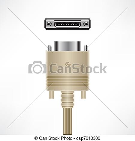 Vector Clipart of SCSI Cable.