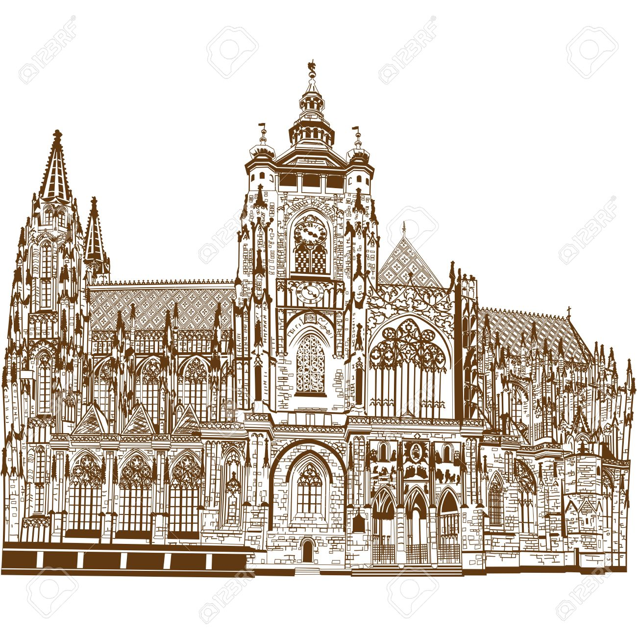 St Vitus Cathedral Royalty Free Cliparts, Vectors, And Stock.