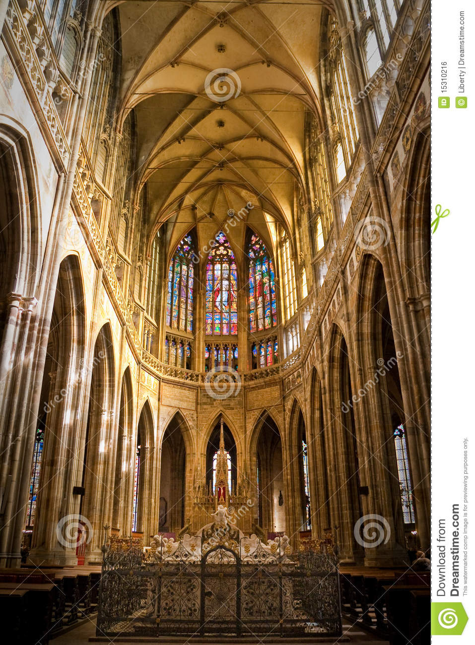 Interior Of St. Vitus Cathedral Royalty Free Stock Image.