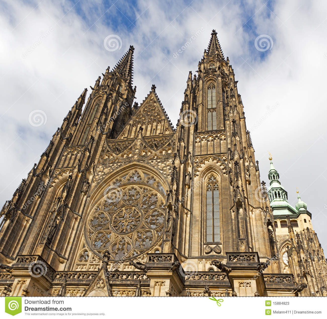 Prague Castle. St Vitus Cathedral Royalty Free Stock Images.