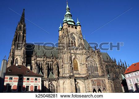 Clipart of St. Vitus Cathedral, Prague k25048281.
