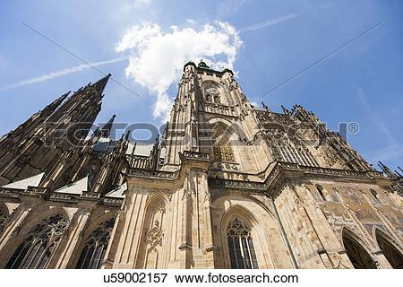 Picture of Low angle view of St. Vitus Cathedral, Prague, Czech.