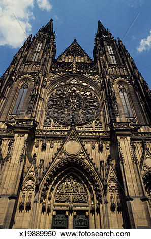 Stock Photography of St. Vitus' cathedral, Prague, Czech republic.
