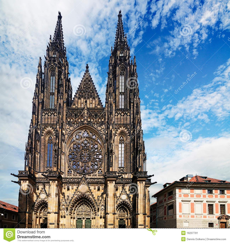 St. Vitus Cathedral, Prague Stock Image.
