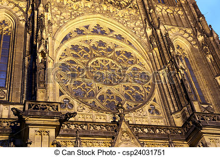 Stock Images of St. Vitus Cathedral (Roman Catholic cathedral ) in.