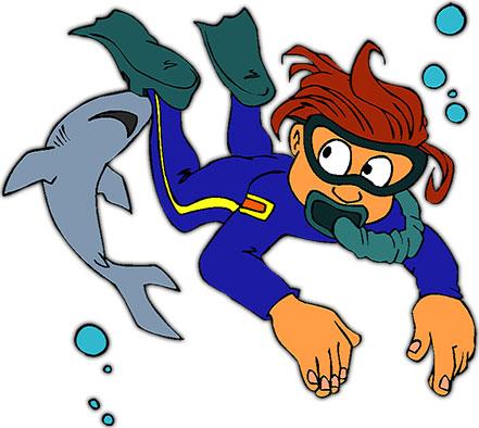 scuba clip art #4