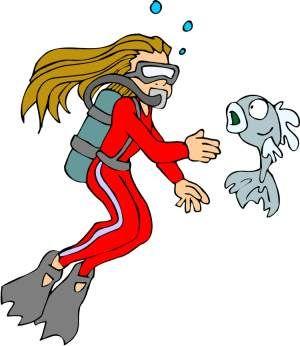 Scuba allows snorkel by art, image vacation file figure.