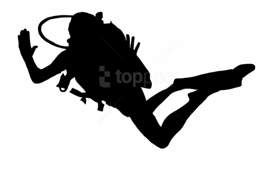 Free Png Scuba Diver Silhouette Png Images Transparent.