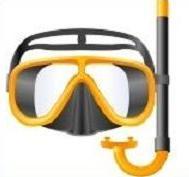 Free Scuba Masks Clipart.