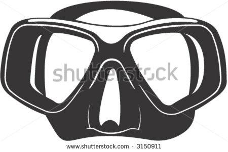 Scuba Goggles Clipart.